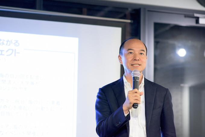 日本財団ソーシャルイノベーション本部海洋チーム上席リーダーの荻上健太郎さん